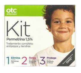 Otc Antipiojos Tratamiento Completo Loción Permetrina + Acondicionador + Spray Repelente