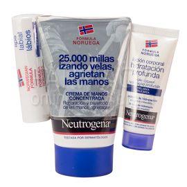 Neutrogena Crema de Manos Concentrada 50ml + Labial SPF20 + Loción Corporal
