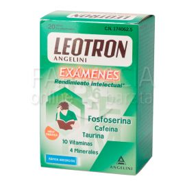 Leotron Exámenes Sabor Naranja 20 Sobres Bucodispersables