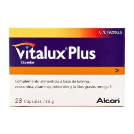 Vitalux Plus 10 Mg 28 Cápsulas