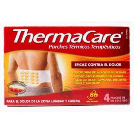 Thermacare Zona Lumbar y Cadera 4 Parches Térmicos