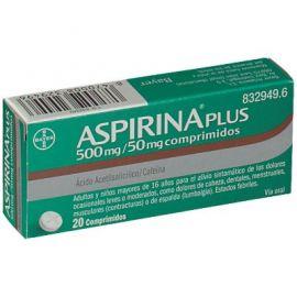 Aspirina Plus 500 Mg/ 50 Mg 20 Comprimidos