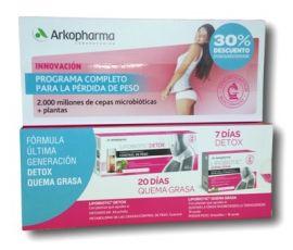 Arkopharma Lipobiotic Programa Completo Detox 7 Unidosis + Quema Grasa 60 Cápsulas