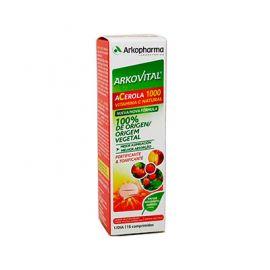 Arkopharma Arkovital Acerola 1000 Vitamina C Natural 15 Comprimidos