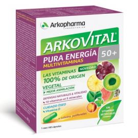 Arkovital Pura Energía Multivitaminas 50+ 60 Cápsulas