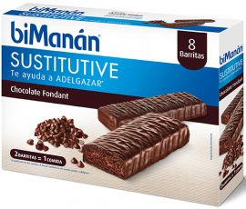 Bimanan Sustitutive Chocolate Fondat 8 Barritas