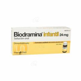 Biodramina Infantil 24 Mg 5 Unidosis