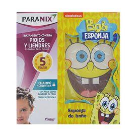 Paranix Champú+ Lendrera +Regalo Esponja de Baño Bob Esponja