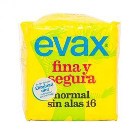 Evax Fina y Segura Normal Sin Alas 16 Compresas