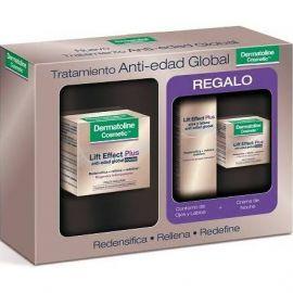 Dermatoline Lift Effect Plus Crema Antiedad Global Noche 50 Ml+ REGALO Contorno de Ojos 15 Ml + Crema de Noche 15 Ml