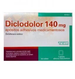 Diclodolor 140 Mg 5 Apósitos Adhesivos Medicamentosos