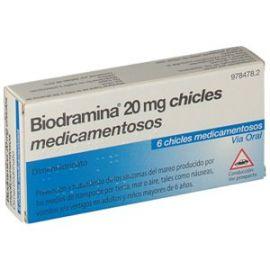 Biodramina 20 Mg 6 Chicles Medicamentosos