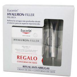 Eucerin Hyaluron Filler Día FPS 15 Piel Seca 50 Ml + Regalo Contorno de Ojos