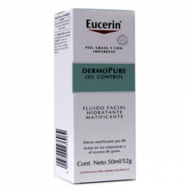 Eucerin Dermo Pure Oil Control Fluido Facial Hidratante Matificante 50 Ml