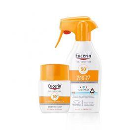 Eucerin Sensitive Protect Kids SFP50+ 300Ml +  Regalo sensitive protect kids sun fluid