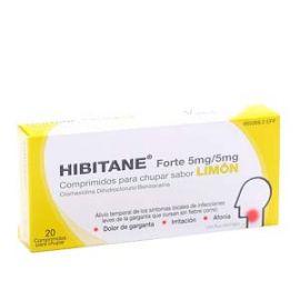 Hibitane Forte 20 Comprimidos Sabor Limon