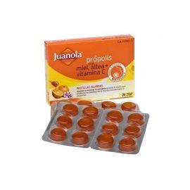 Juanola Própolis con Miel, Altea, Vitamina C Sabor Naranja 24 Pastillas Blandas