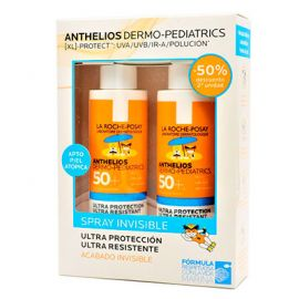 La Roche Posay Anthelios Dermo-Pediatrics Spray Invisible 2x200ml -50% descuento 2ª Unidad