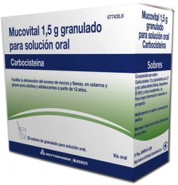 Mucovital 1.5 Gr Granulado para Solución Oral 20 Sobres