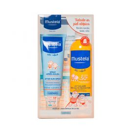 Mustela Pack Bebé-Niño Leche Solar SPF50+ 300 Ml + Loción After Sun 125 Ml