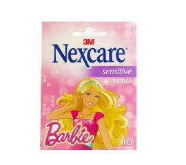 Nexcare Sensitive Design Barbie 10 Unidades