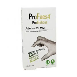Profaes4 Probiótico para Adultos 25 Millones 30 Cápsulas
