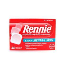 Rennie Sabor Menta-Limón 48 Comprimidos Masticables con Sacarosa