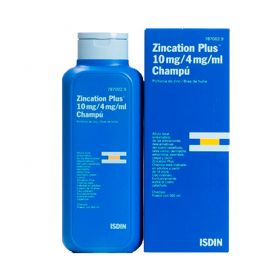 Zincation Plus 10 Mg/ 4 Mg / ml Champú 500 Ml